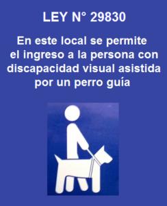 Opecu insta a conductores de locales abiertos al público a exhibir avisos de acceso a invidentes asistidos por perros guía